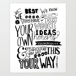 And Through This Art Print