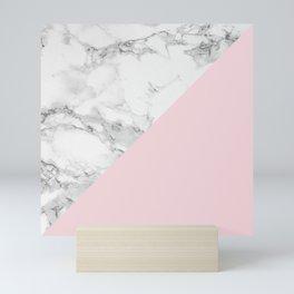 Marble + Pastel Pink Mini Art Print