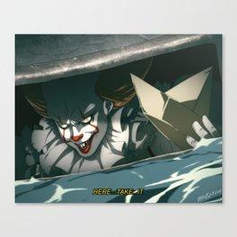Sewer Clown Canvas Print