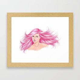 pink cotton candy Framed Art Print