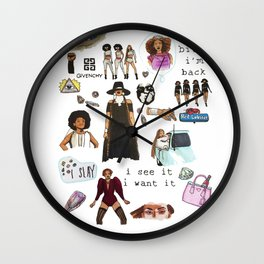 Queen Bey Formation Tribute Wall Clock