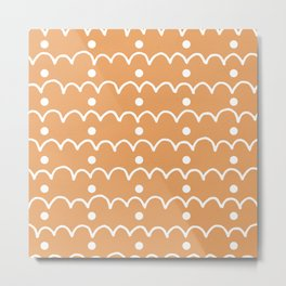 Pattern Design Arches And Dots Metal Print