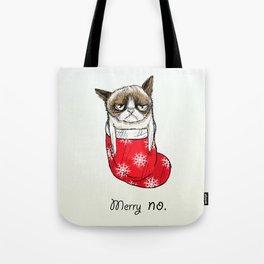 grumpy christmas Tote Bag