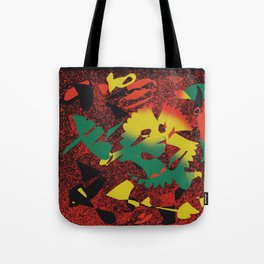 Pieces of Reggae #Abstract #PopArt Tote Bag