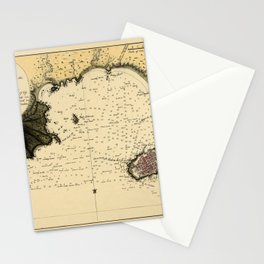 Map Of Montevideo 1789 Stationery Cards