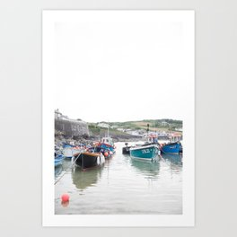 Fishing Boats in the Harbour Art Print