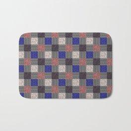 Patchwork Pattern Bath Mat