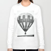 hot air balloon Long Sleeve T-shirts featuring Hot Air Balloon by Rose Etiennette