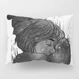 Growing Love black and white. Pillow Sham