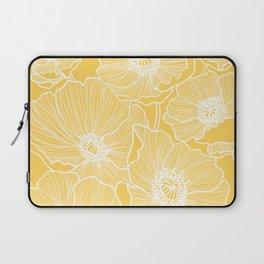 Sunshine Yellow Poppies Laptop Sleeve