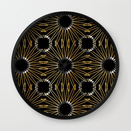 Gold and silver snowflake gifts Wall Clock