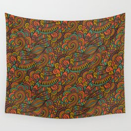 Color ethnic waves Wall Tapestry