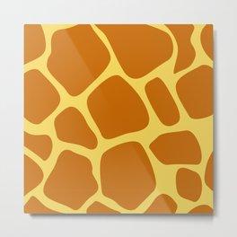 Animal Print Pattern – Giraffe 1 Metal Print