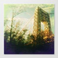bridge Canvas Prints featuring Bridge by Claire Beaufort