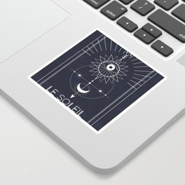Le Soleil or The Sun Tarot Sticker