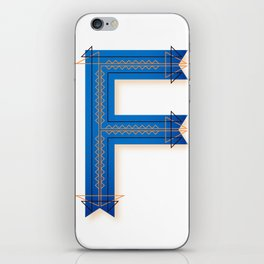 The Letter F iPhone Skin