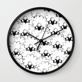 Count Sheep 1 Wall Clock