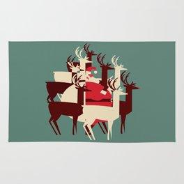 Deer Santa Rug