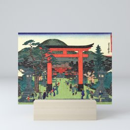 Fushimi Inari Shrine by Hasegawa Sadanobu - Japanese Vintage Ukiyo-e Woodblock Painting Mini Art Print