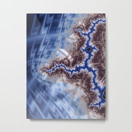 Fissures of Blue Metal Print