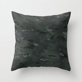 Camouflage: Black Throw Pillow