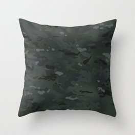 Camouflage: Black Throw Pillow