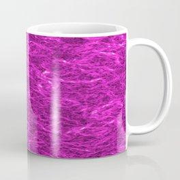 Horizontal metal texture of bright highlights on pink waves. Coffee Mug
