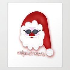 Christmas Santa CB Art Print
