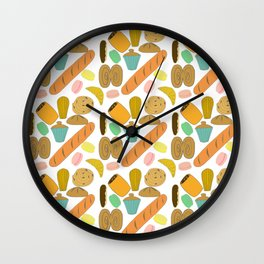 Patisseries de France French Pastries and Breads Wall Clock