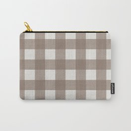 Gingham Cloth / Mocha Checks Carry-All Pouch