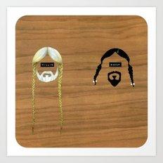 Willie & Snoop Art Print