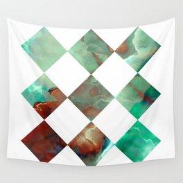 MARBLED ONYX & GEOMETRIC I Wall Tapestry