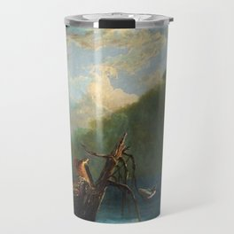 Old Man in the Mountain, White Mountains, New Hampshire landscape painting by Thomas Hill Travel Mug