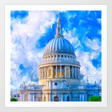 London - The Dome Of St Paul's Cathedral Art Print