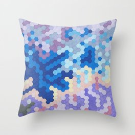 Nebula Hex Throw Pillow