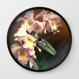 Orchid Delight Wall Clock
