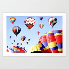 Balloons In The Sky - Painting Style Art Print