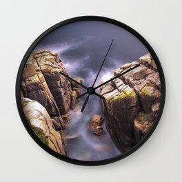 View From The Minack Theatre, Porthcurno, Cornwall, England, United Kingdom Wall Clock