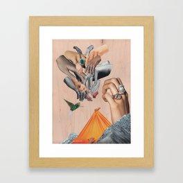 Untitled: Hands Framed Art Print