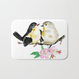 birds and apple flower blossom Bath Mat
