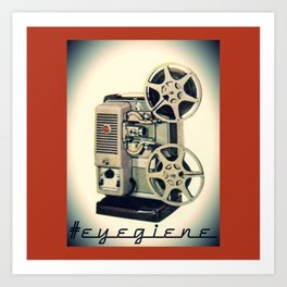 Eyegiene Motion Picture Projector Art Print
