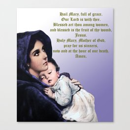 Prayer to Virgin Mary Canvas Print