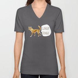 Ginger dingo pattern Unisex V-Neck