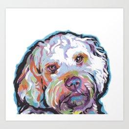 COCKAPOO Fun Dog Portrait bright colorful Pop Art Painting by LEA Art Print