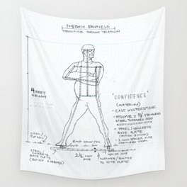 Confidence Drawing, Transitions through Triathlon Wall Tapestry