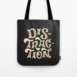 DISTRACTION // Off-White Tote Bag