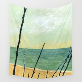 Branches on the Beach Wall Tapestry