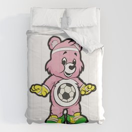 SOCCER Player TEDDY Bear Son Daughter Pit Cleats Comforters