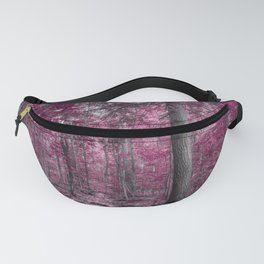Burgundy and Plum Forest Fanny Pack