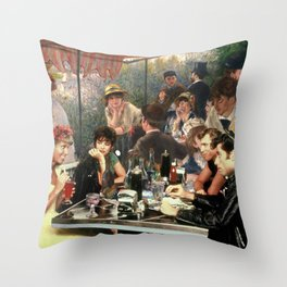 Renoir's Luncheon of the Boating Party & Grease Throw Pillow